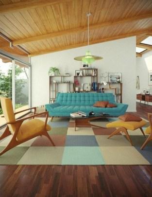 Stunning Modern Mid Century Living Room Design 07