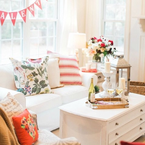Valentines Day Home Decor With White Color Scheme 15