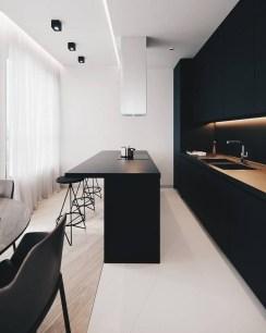 Black Kitchen Design Ideas With White Color Accent 05