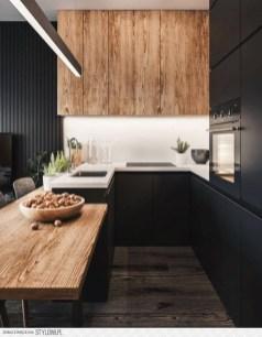 Black Kitchen Design Ideas With White Color Accent 06
