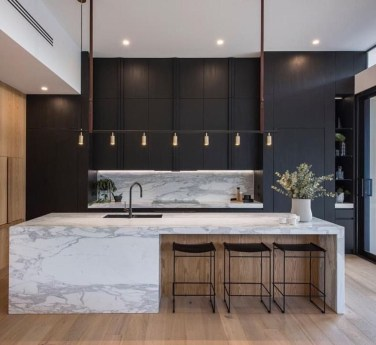 Black Kitchen Design Ideas With White Color Accent 10