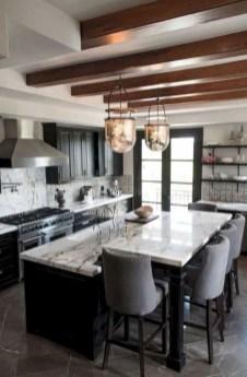 Black Kitchen Design Ideas With White Color Accent 11