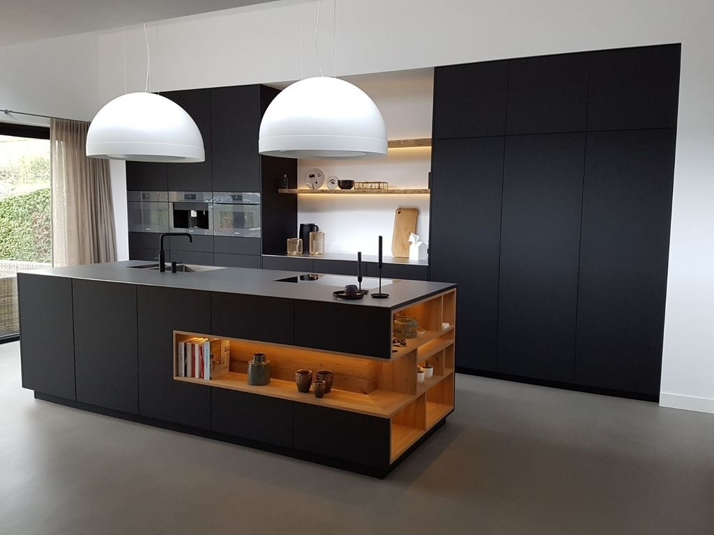 Black Kitchen Design Ideas With White Color Accent 16
