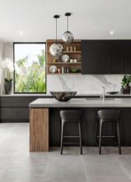 Black Kitchen Design Ideas With White Color Accent 17