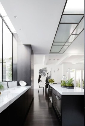 Black Kitchen Design Ideas With White Color Accent 20