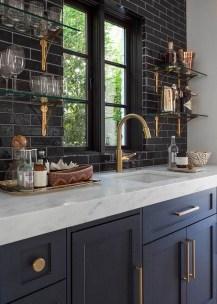 Black Kitchen Design Ideas With White Color Accent 25