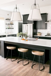 Black Kitchen Design Ideas With White Color Accent 29