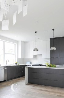 Black Kitchen Design Ideas With White Color Accent 41