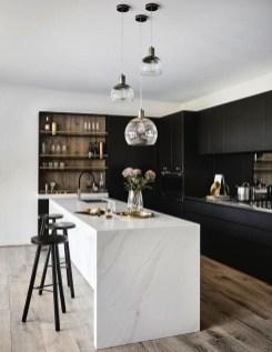 Black Kitchen Design Ideas With White Color Accent 43