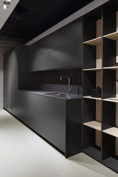 Black Kitchen Design Ideas With White Color Accent 44