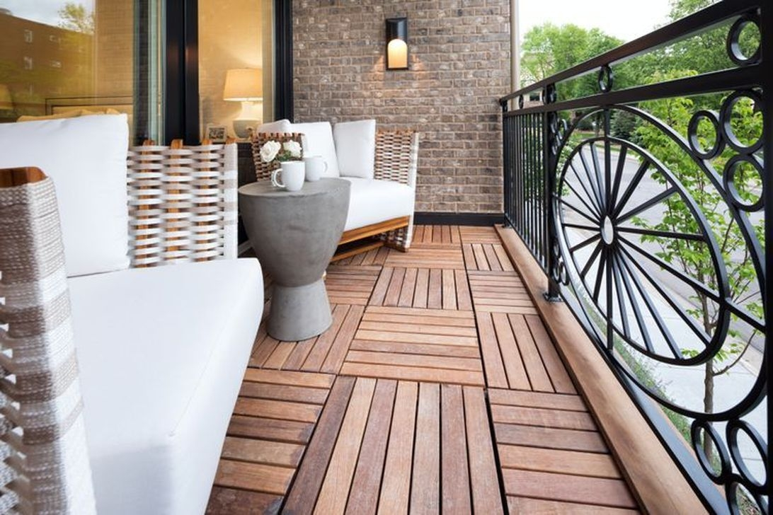 Popular Apartment Balcony Design For Small Spaces 01