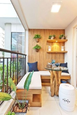 Popular Apartment Balcony Design For Small Spaces 07