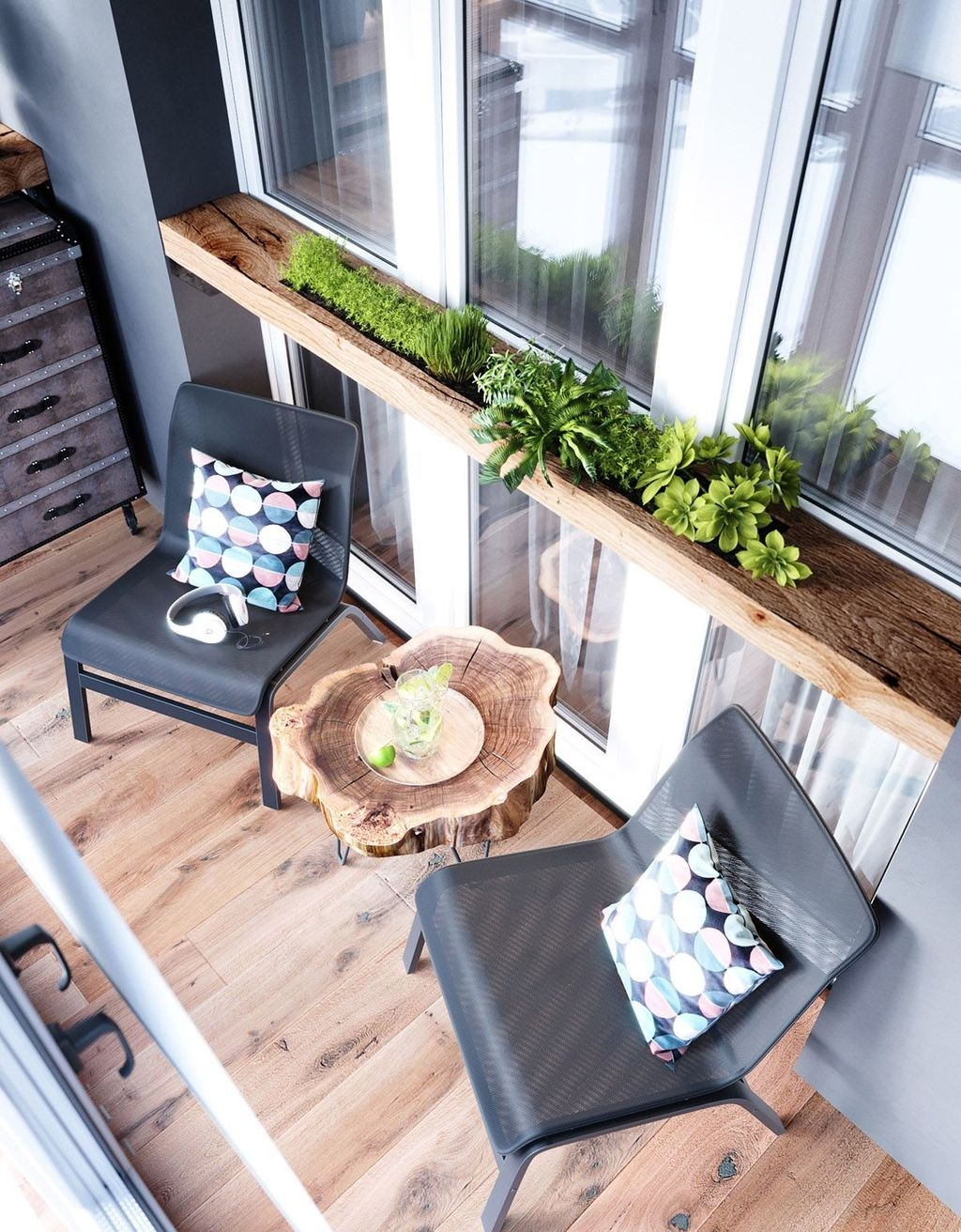 Popular Apartment Balcony Design For Small Spaces 09