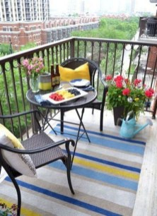 Popular Apartment Balcony Design For Small Spaces 20