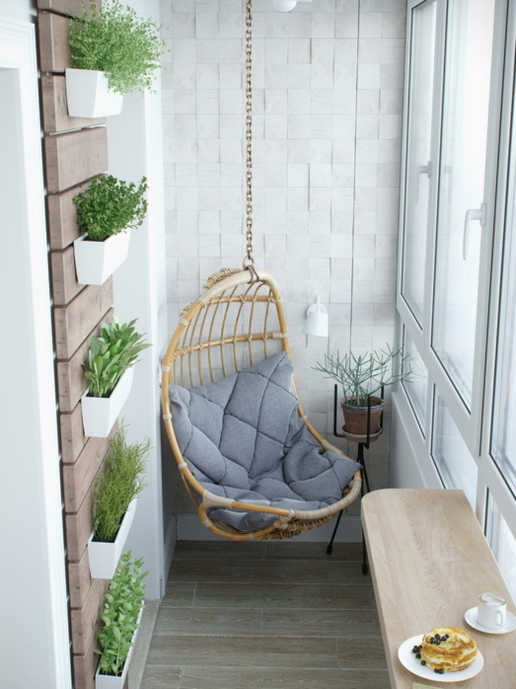 Popular Apartment Balcony Design For Small Spaces 41