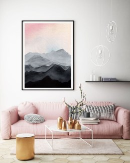Lovely Pink Living Room Decor Ideas 03