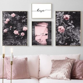 Lovely Pink Living Room Decor Ideas 10