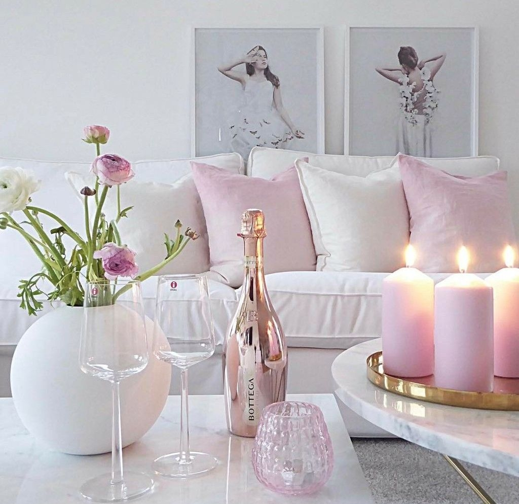 Lovely Pink Living Room Decor Ideas 11