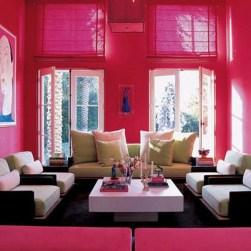Lovely Pink Living Room Decor Ideas 16