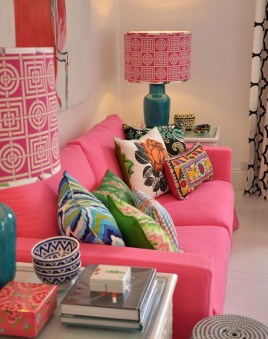 Lovely Pink Living Room Decor Ideas 41