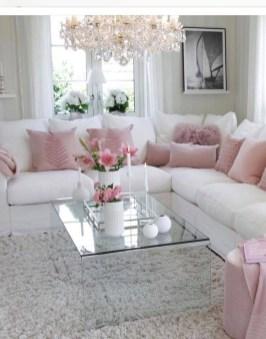 Lovely Pink Living Room Decor Ideas 42
