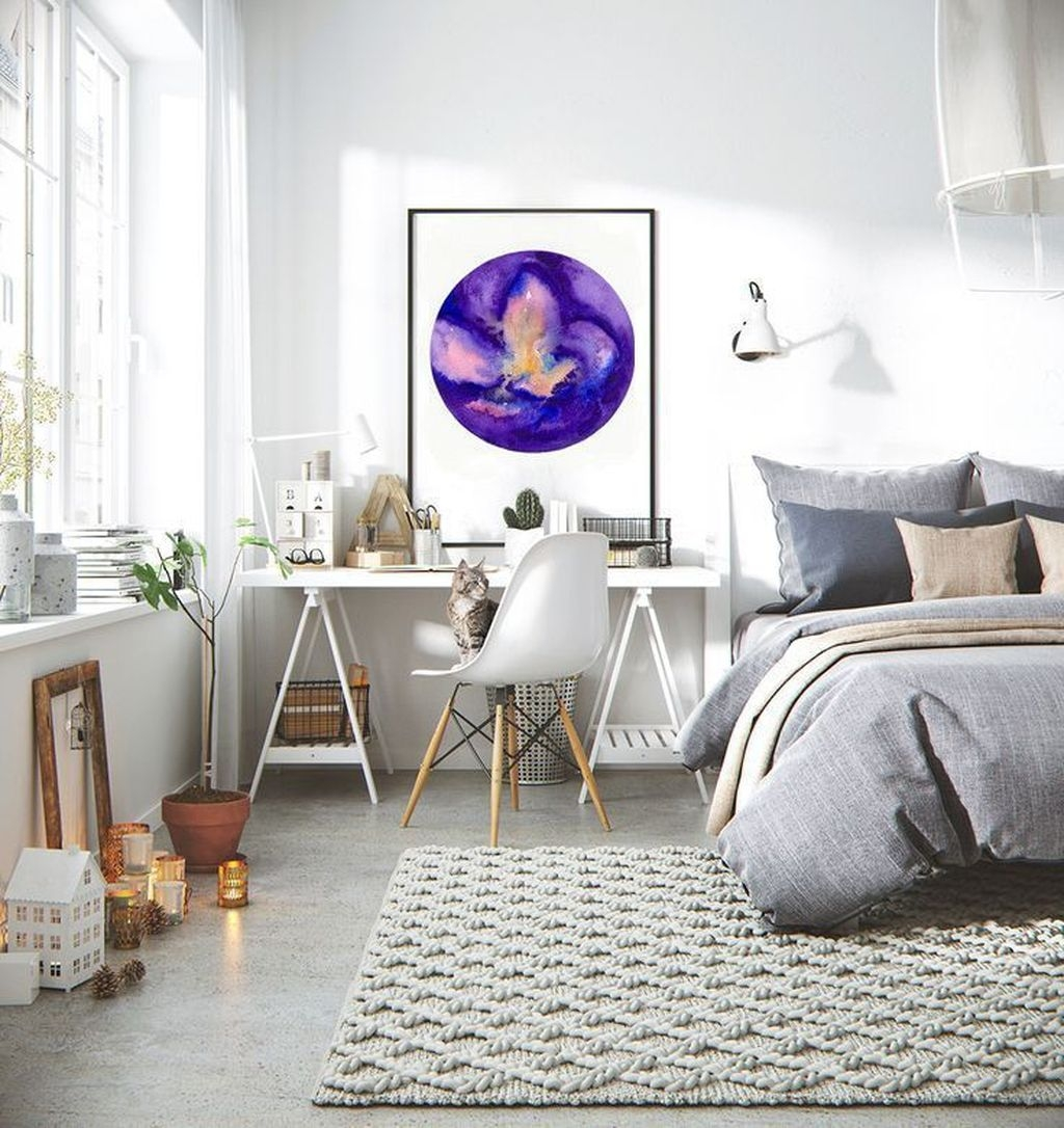 Minimalist Scandinavian Bedroom Decor Ideas 44