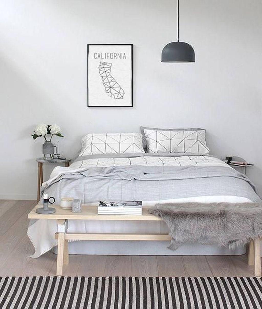 Cool 50 Minimalist Scandinavian Bedroom Decor Ideas Sweetyhomee Download Free Architecture Designs Grimeyleaguecom