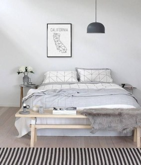 Minimalist Scandinavian Bedroom Decor Ideas 45