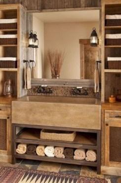 Perfect Rustic Farmhouse Bathroom Design Ideas 06