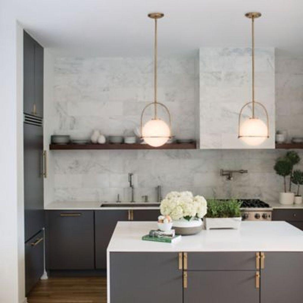 The Best Lighting In Neutral Kitchen Design Ideas 01