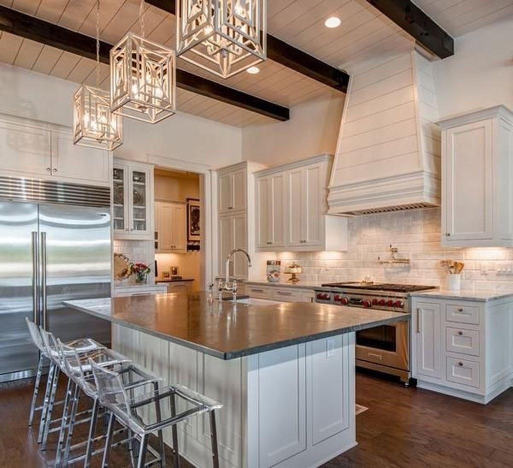 The Best Lighting In Neutral Kitchen Design Ideas 31