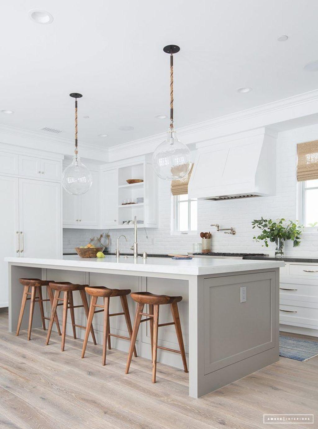 The Best Lighting In Neutral Kitchen Design Ideas 32