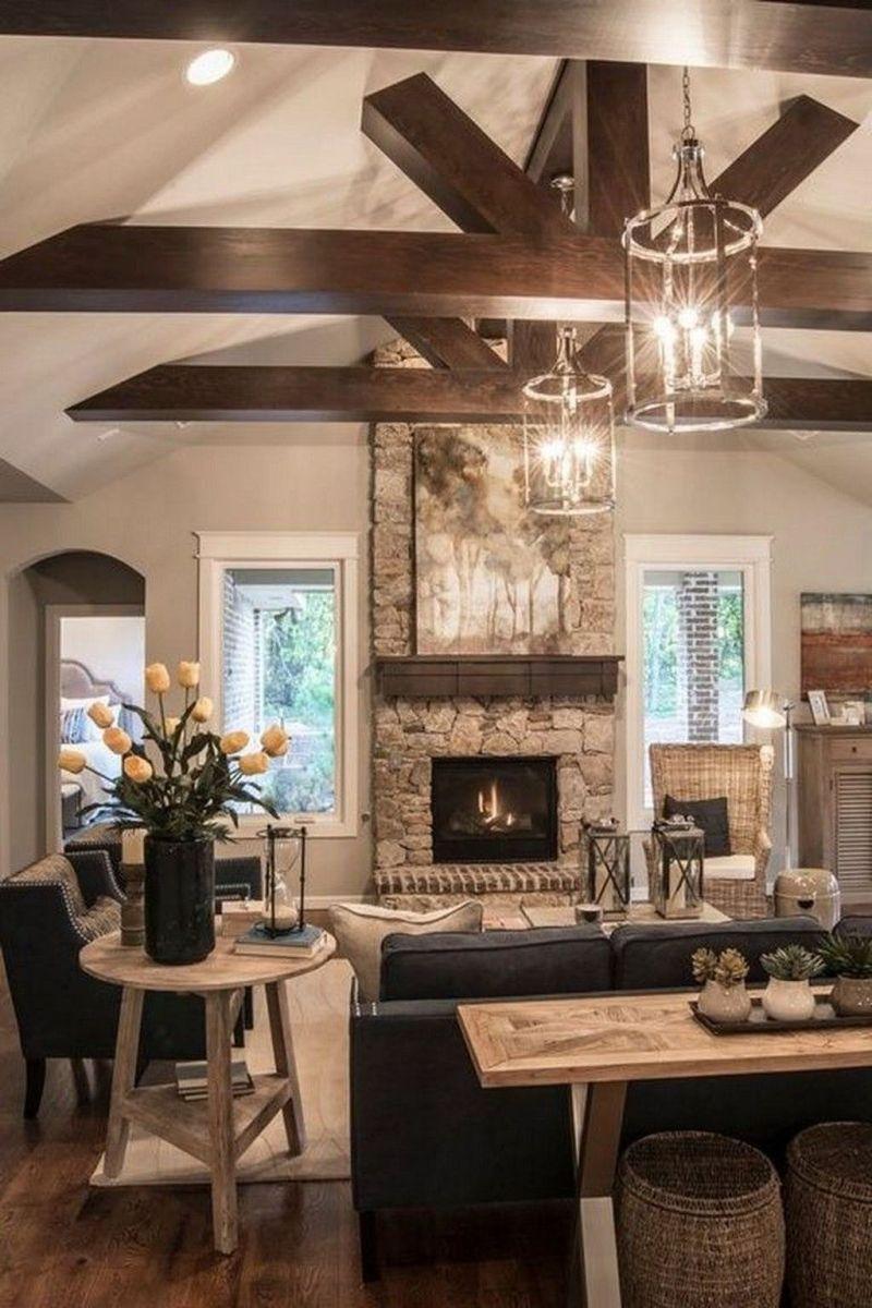Admirable Farmhouse Living Room Decor Ideas 19