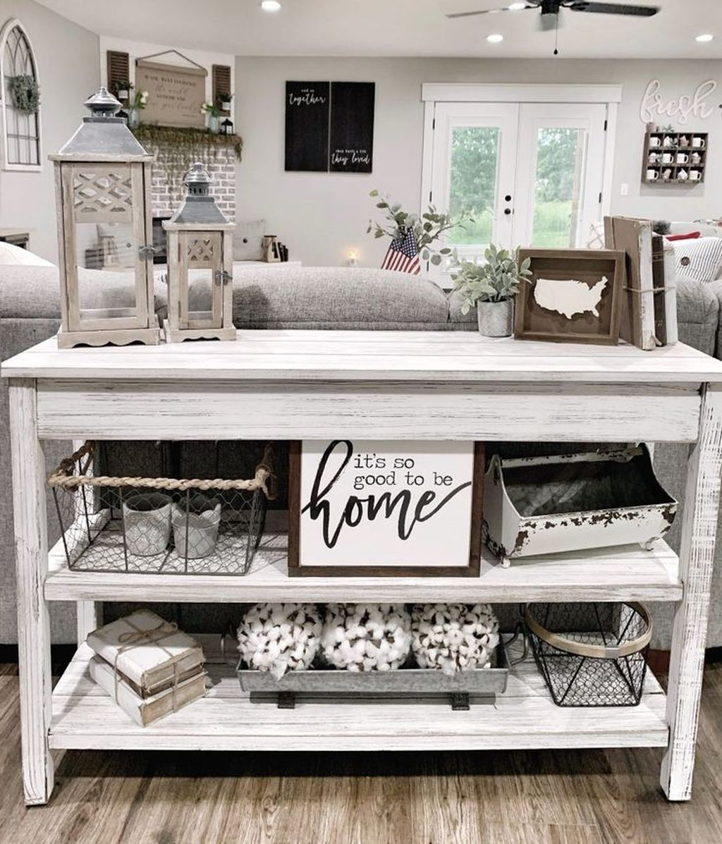 Amazing Sofa Table Decor Ideas You Should Try 29