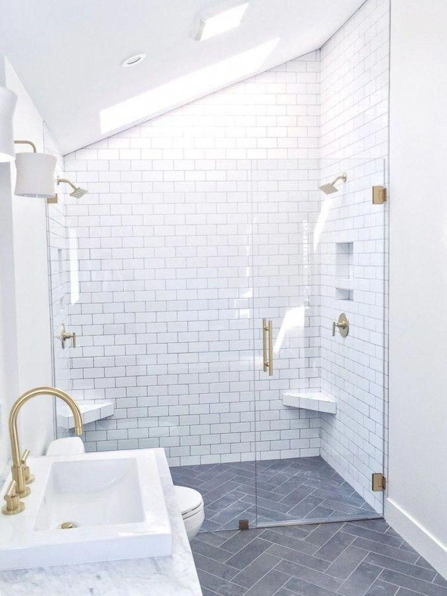 Amazing White Tile Bathroom Design Ideas Looks Elegant 08