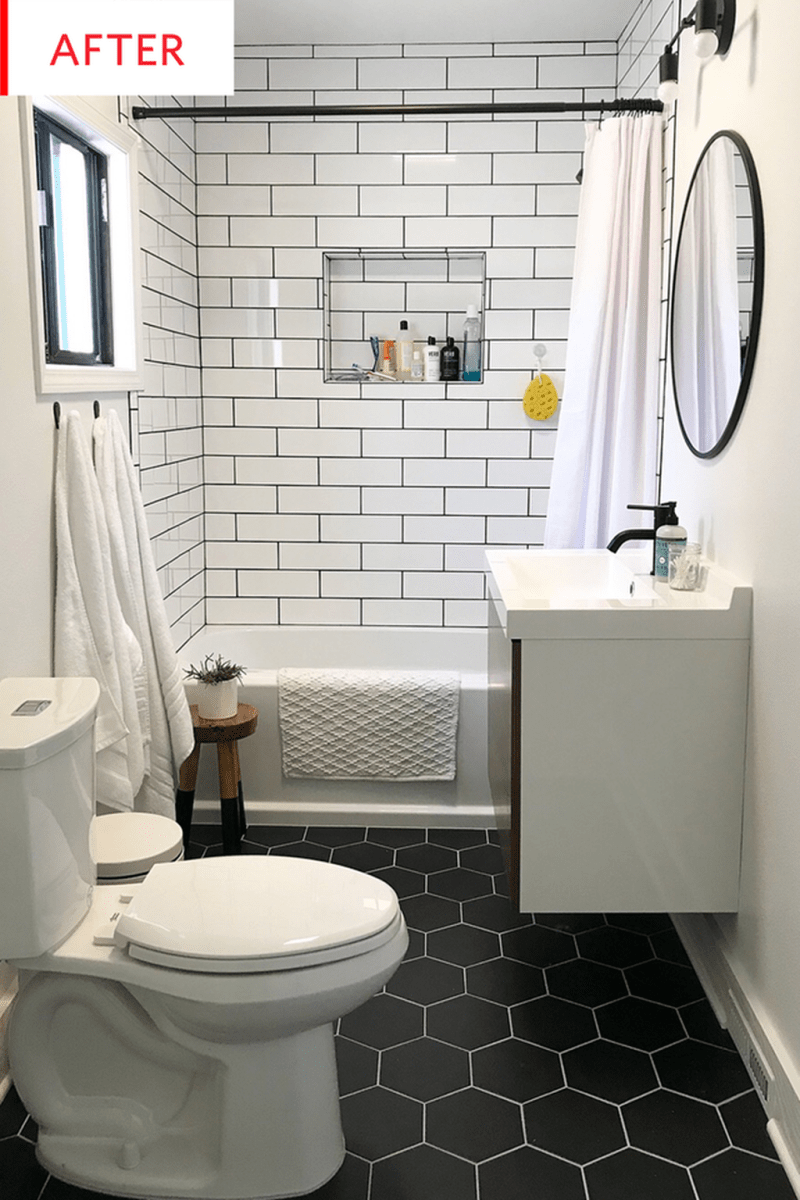 Amazing White Tile Bathroom Design Ideas Looks Elegant 14