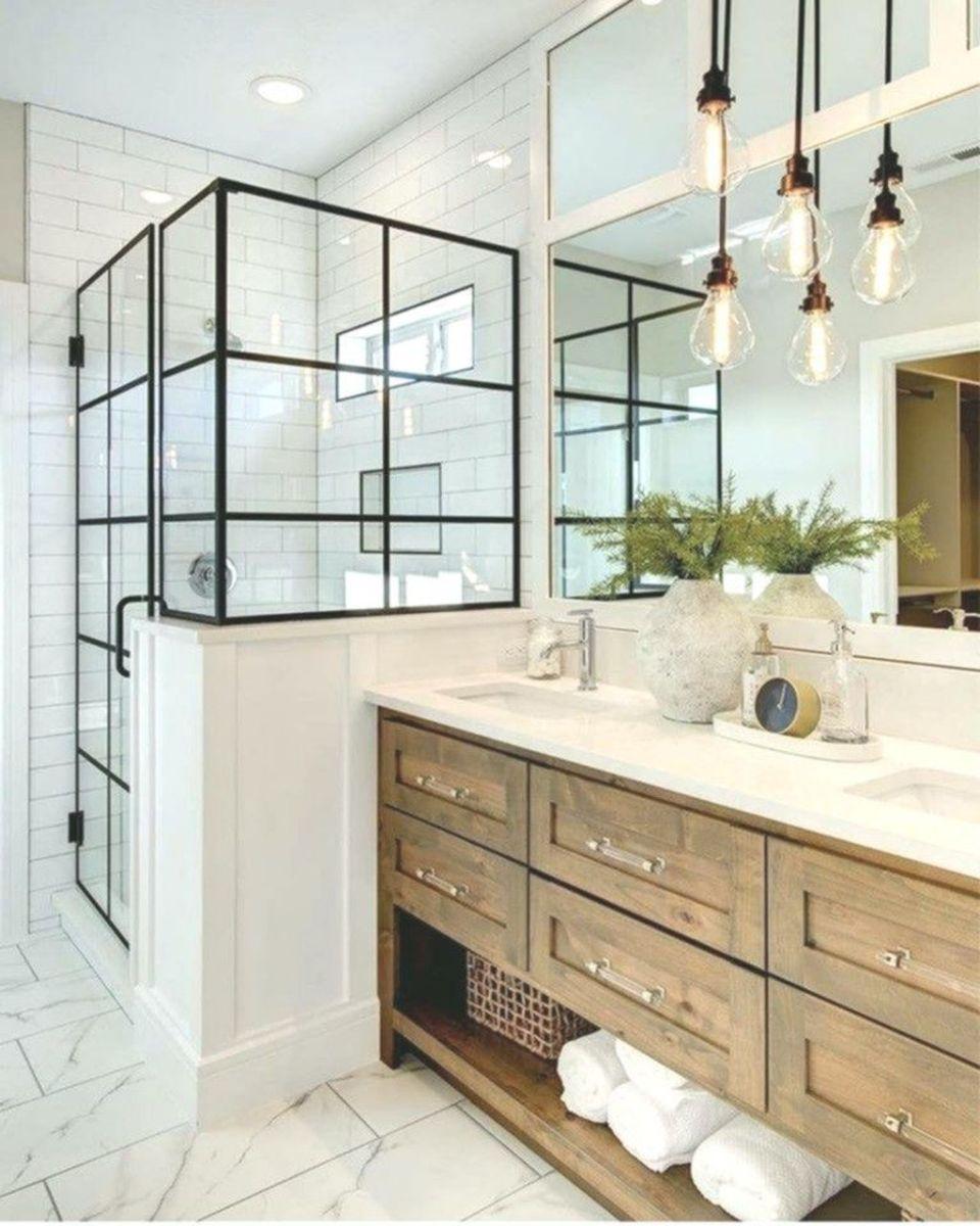 Amazing White Tile Bathroom Design Ideas Looks Elegant 19