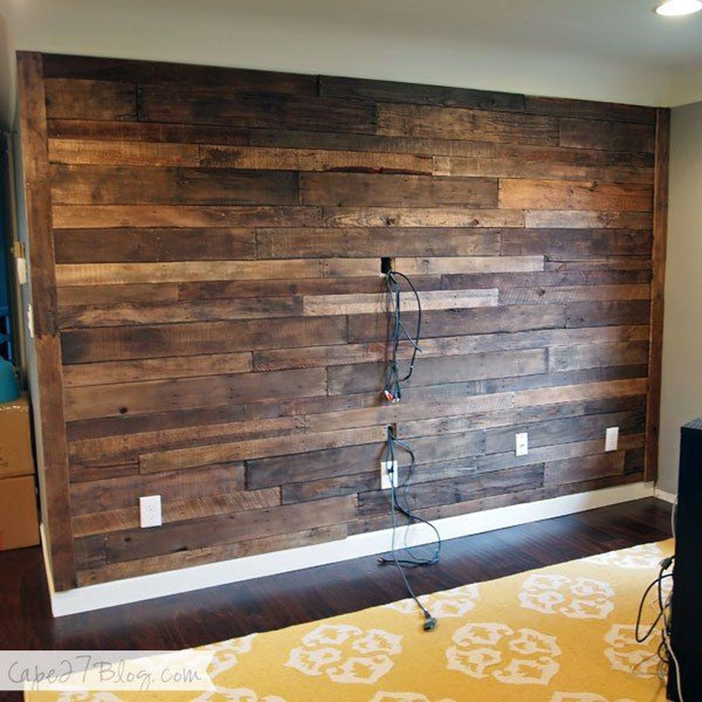 Fabulous Pallet Wall Decor Ideas To Beautify Your Interior 01