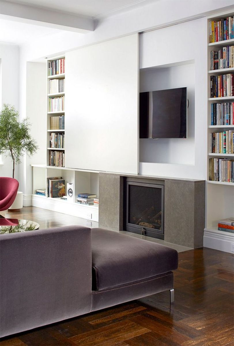 Fascinating Small Living Room Cabinet Design Ideas 22