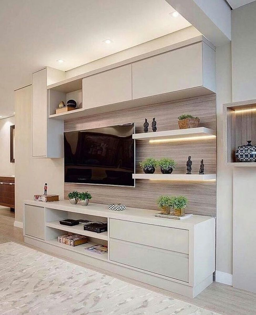 Fascinating Small Living Room Cabinet Design Ideas 25