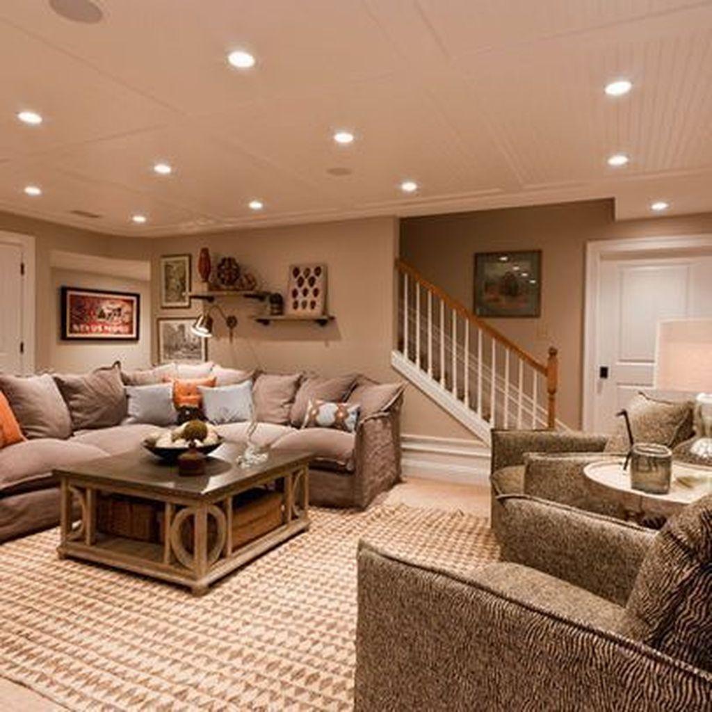 Gorgeous Basement Living Room Ideas You Definitely Like 13