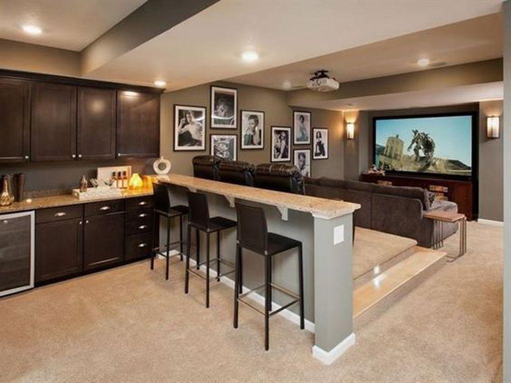 Gorgeous Basement Living Room Ideas You Definitely Like 16