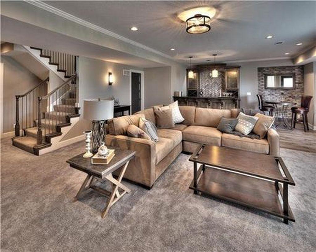 Gorgeous Basement Living Room Ideas You Definitely Like 27