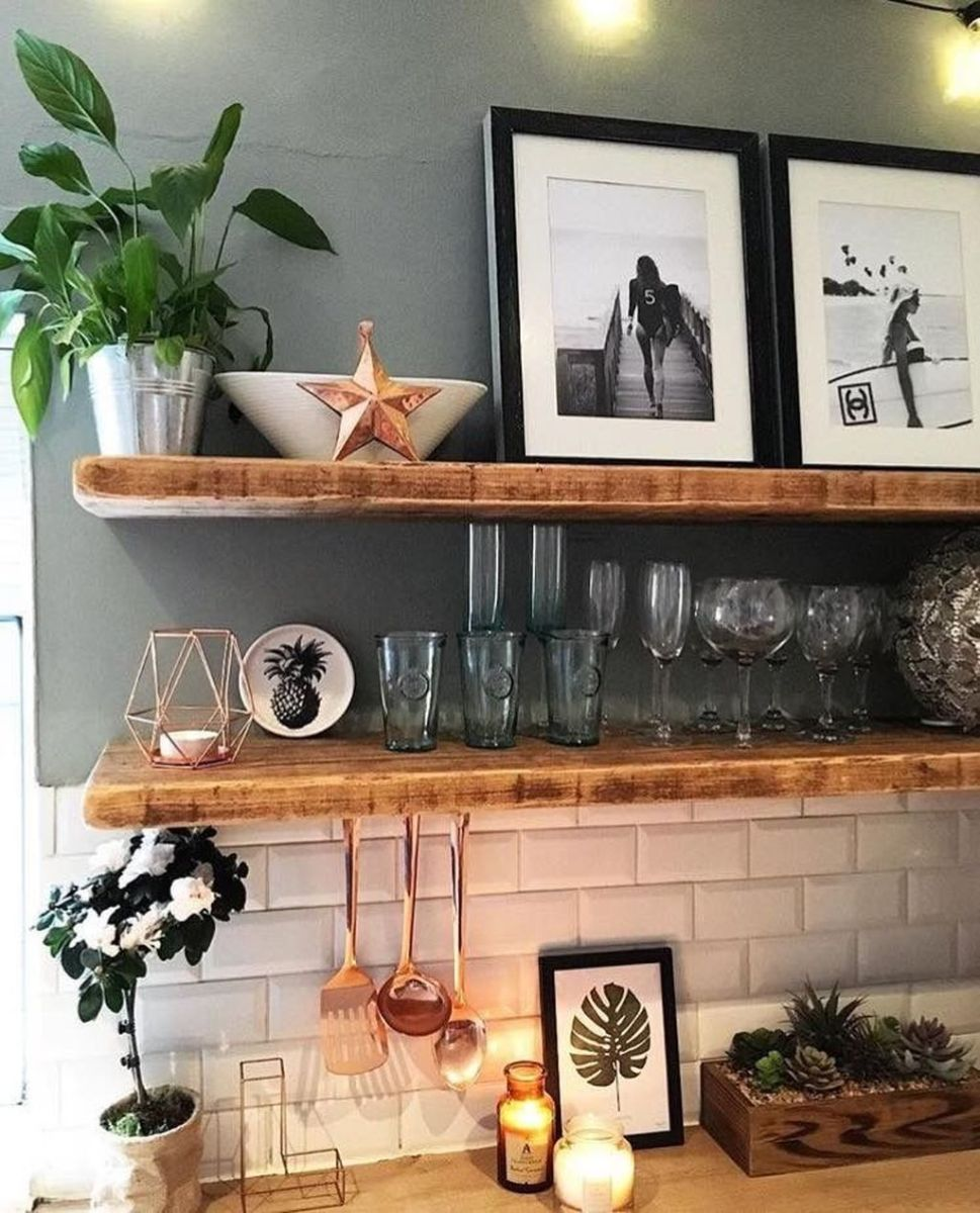 Gorgeous Kitchen Shelves Ideas You Must Have 20