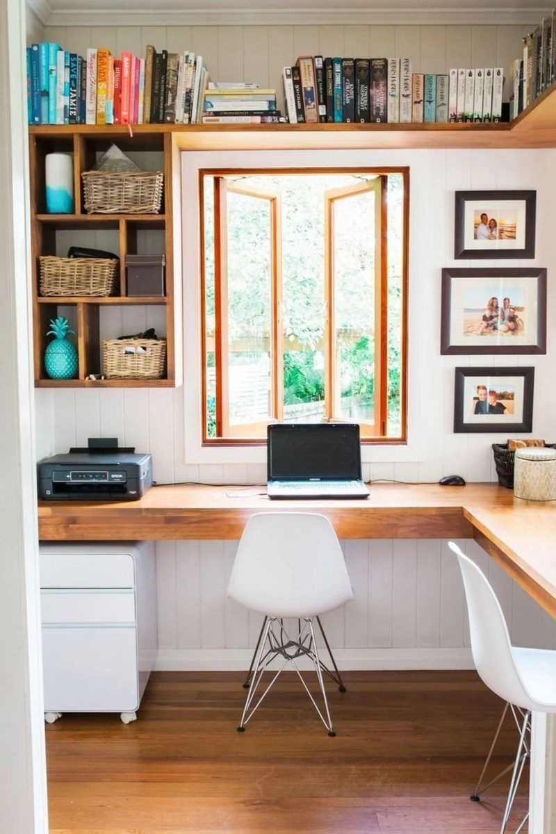 Inspiring Small Office Ideas For Small Space 10