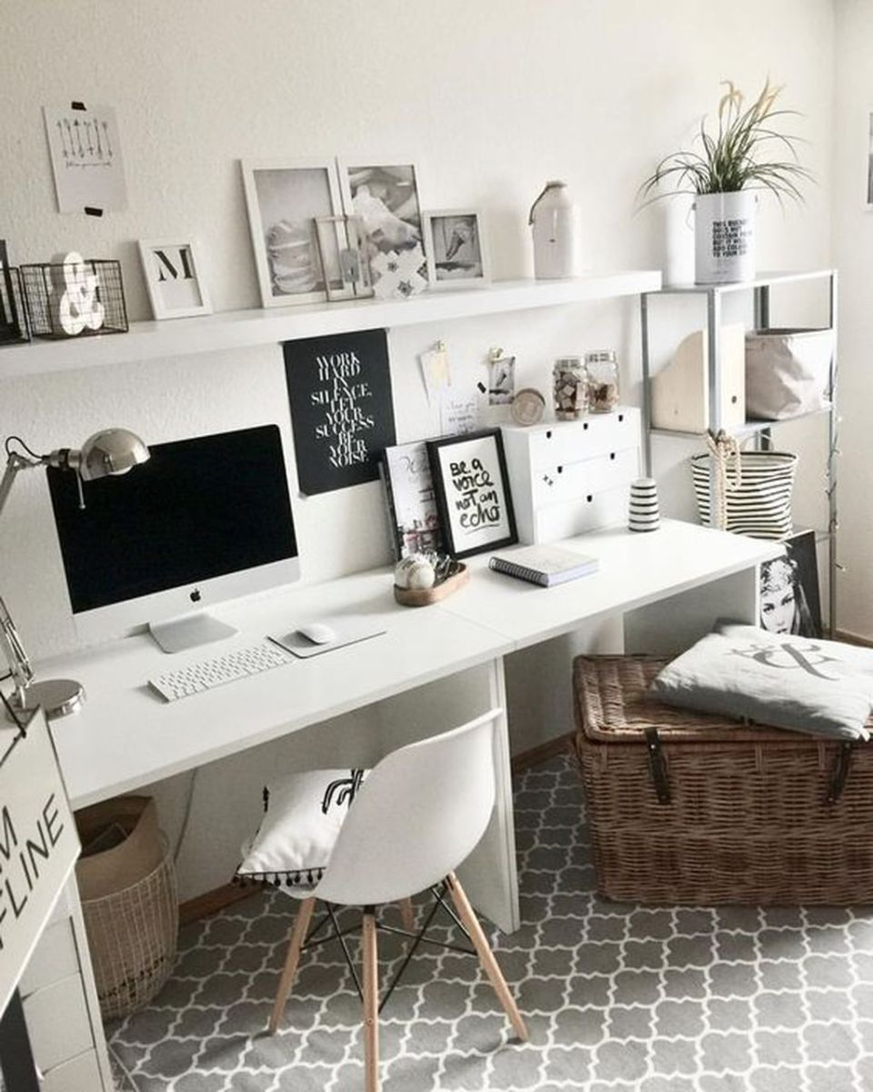 Inspiring Small Office Ideas For Small Space 21