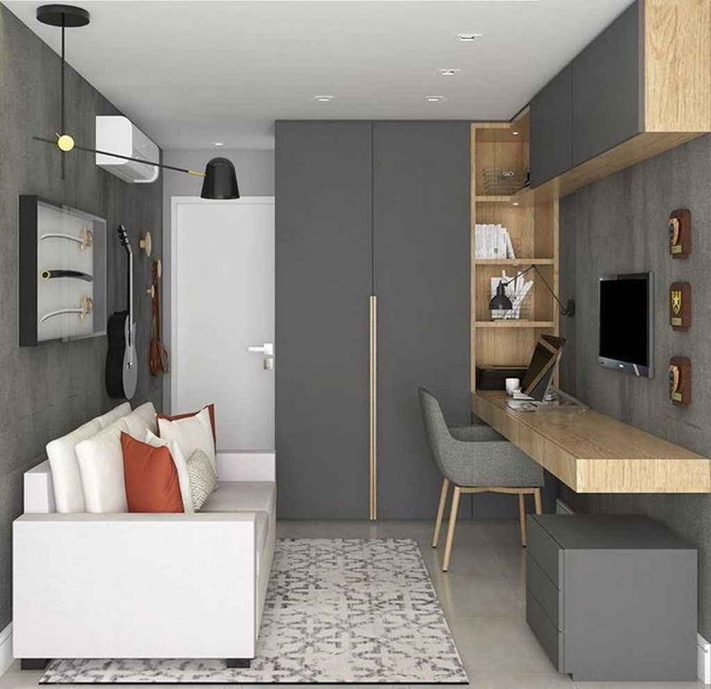 Inspiring Small Office Ideas For Small Space 29