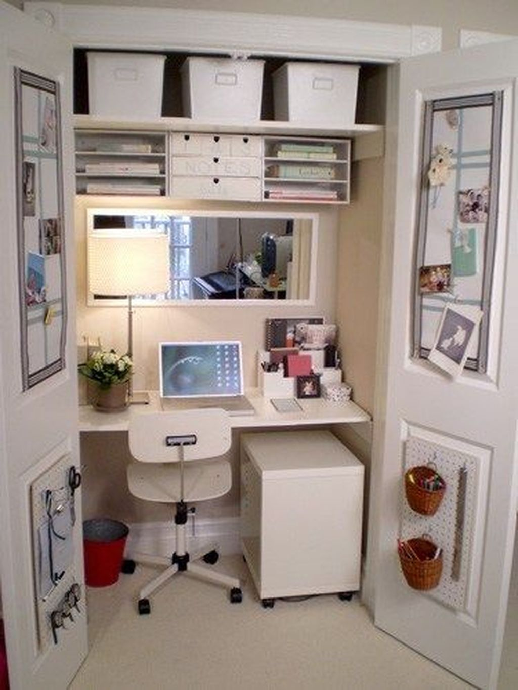 Inspiring Small Office Ideas For Small Space 30