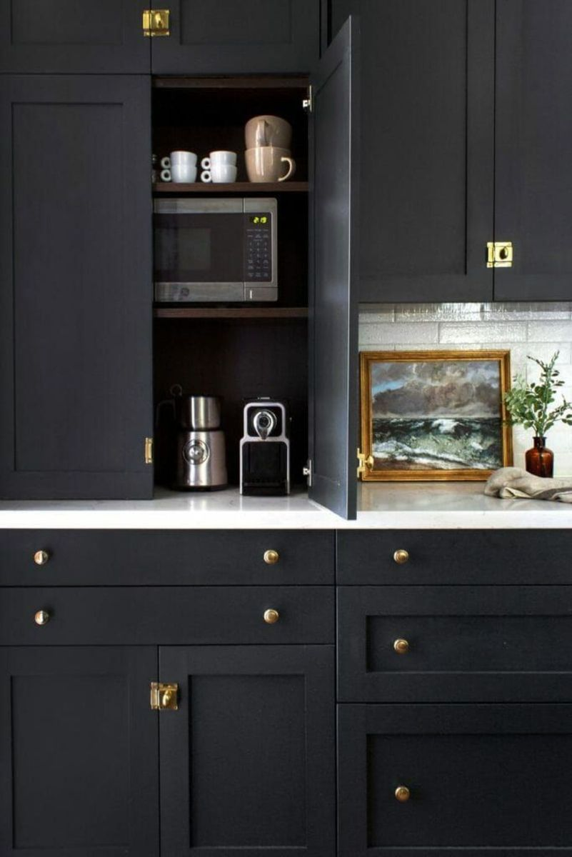 Nice Dark Blue Kitchen Cabinets With Luxurious Accent 17