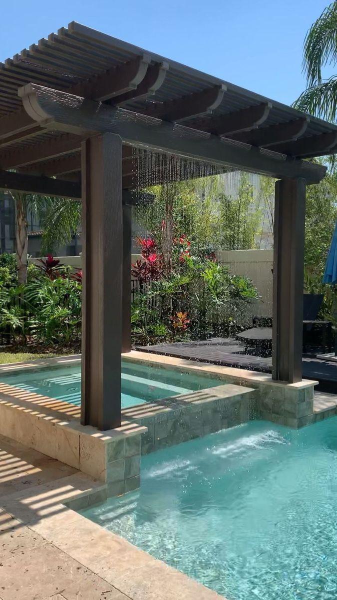 Stunning Backyard Pool Landscaping Ideas 16